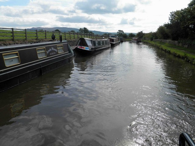 Boats moored on the Leeds Liverpool canal