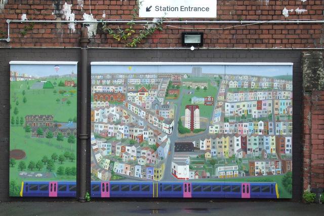 Mural at Bedminster railway station