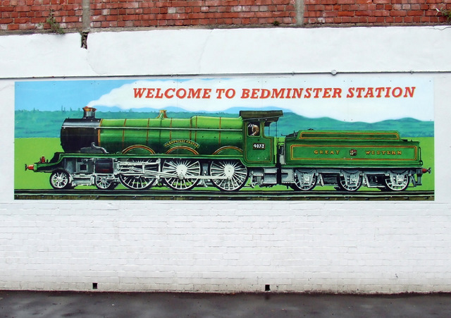 Mural at Bedminster railway station