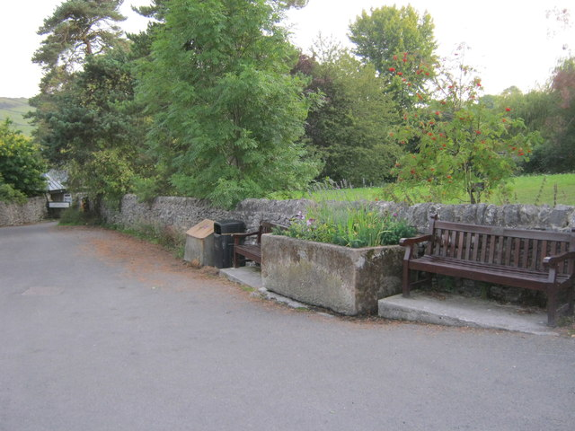 Seating at the top of Holywell Lane in Youlgrave