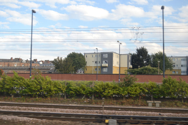 Housing just beyond station car park