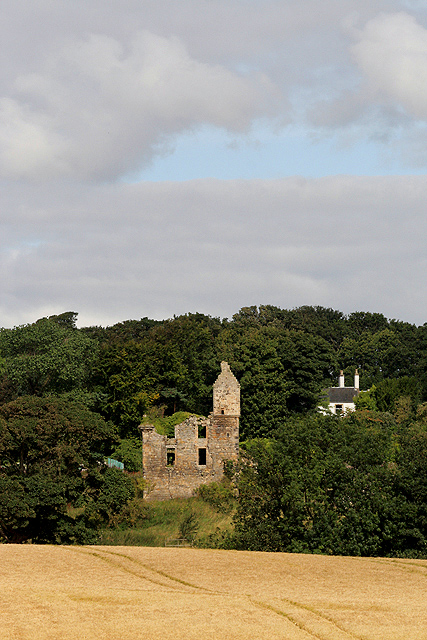 The remains of Pitteadie Castle