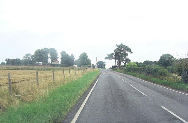 Approaching  Little Stoke on the  B4009