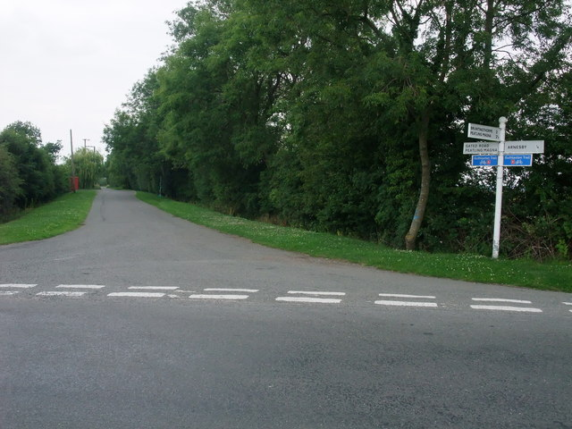 Arnesby Lane leading to Peatling Magna