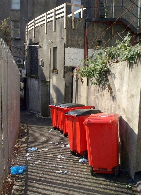 Bins in a Torquay alley