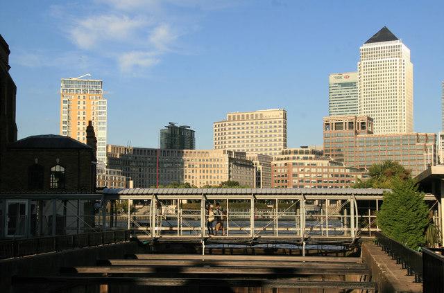 Bridge over slipway, Nelson Dock