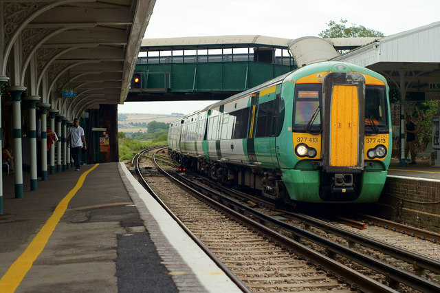 Class 377 Arriving at Arundel Station, Sussex