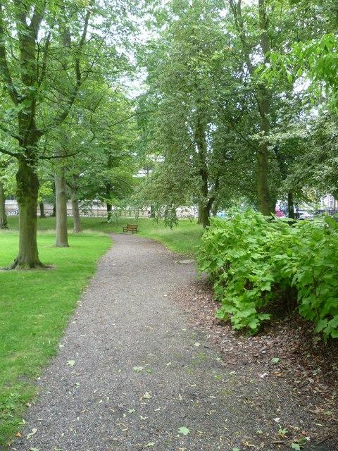 George Square garden path