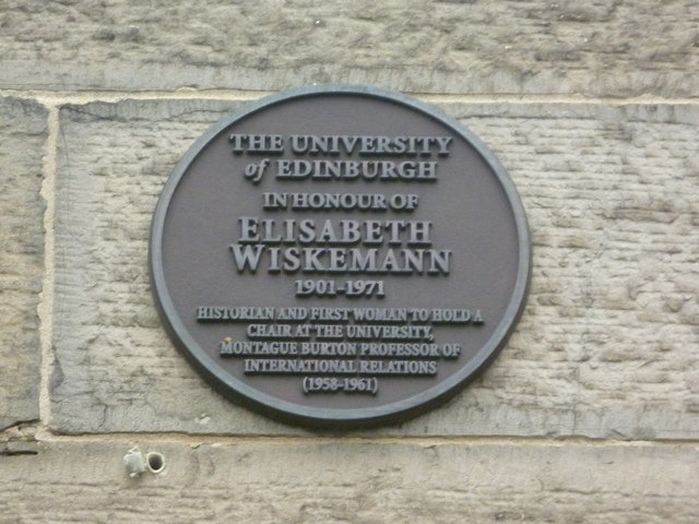 Elisabeth Wiskemann plaque, George Square