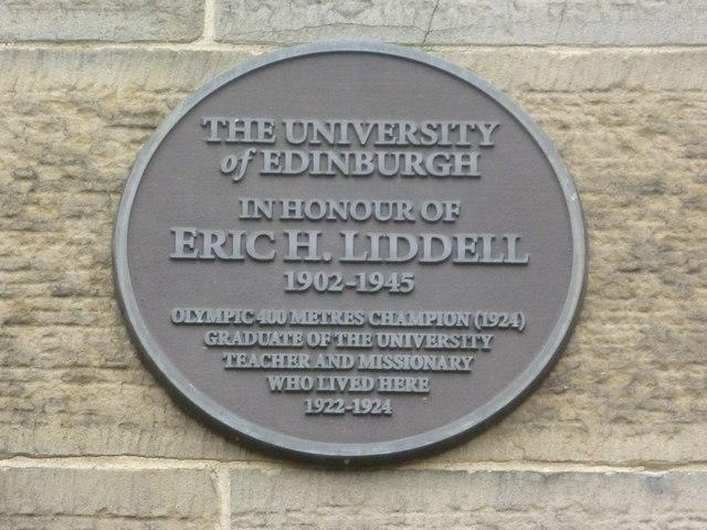 Eric Liddell plaque, George Square