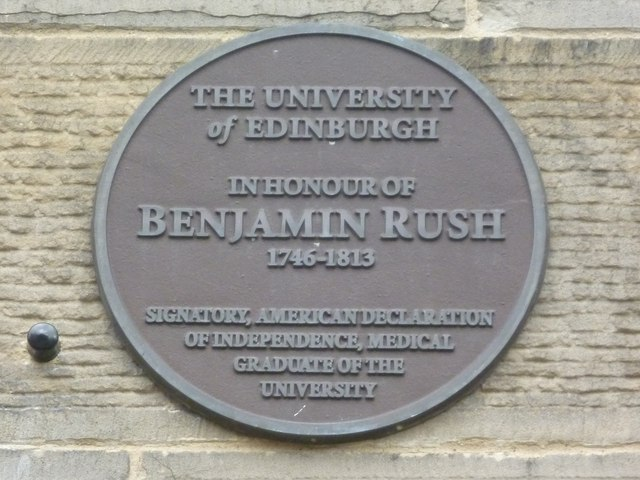 Benjamin Rush plaque, George Square
