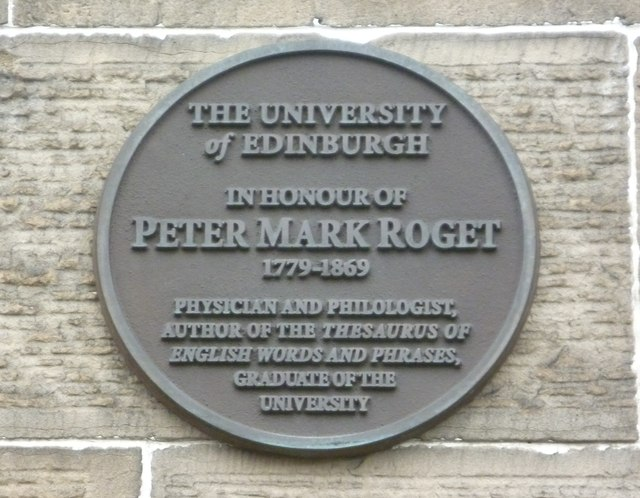 Peter Mark Roget plaque, George Square