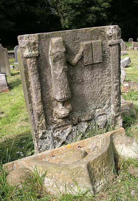 An old gravestone in Auchtertool Parish Churchyard