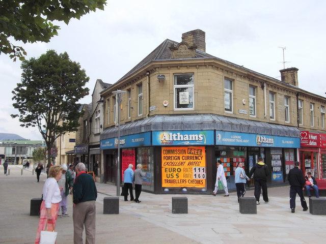 """""""Althams Travel Services Ltd"""" 1 Scotland Road, Nelson, Lancashire BB9 7UR"""