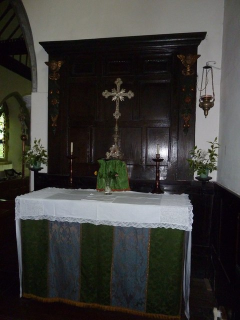 Church of the Assumption of the Blessed Virgin Mary Upper Froyle- side altar