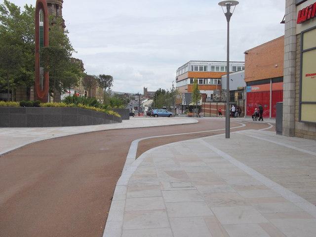 De-Pedestrianisation of Manchester Road, Nelson, Lancashire