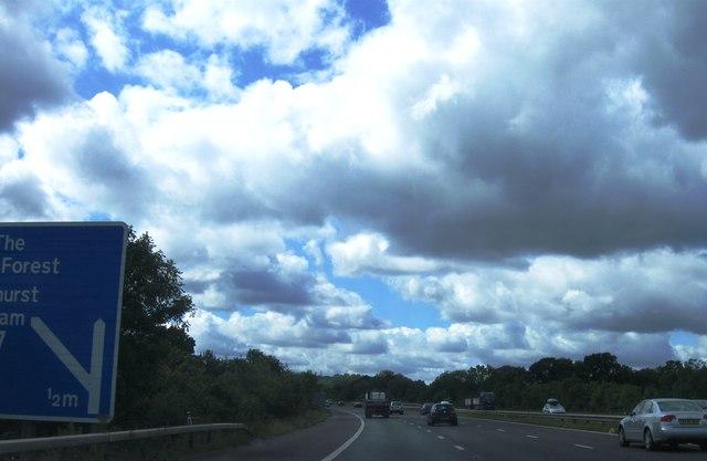 M27 approaching Cadnam