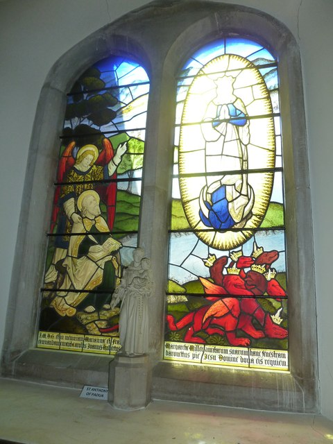 Church of the Assumption of the Blessed Virgin Mary Upper Froyle- stained glass window (5)