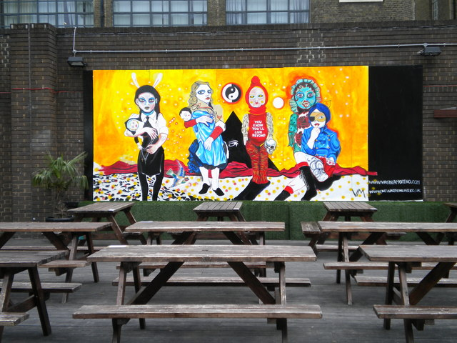 Seating area, Dray Walk E1