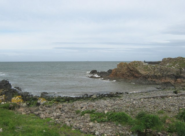 A little pebbled beach