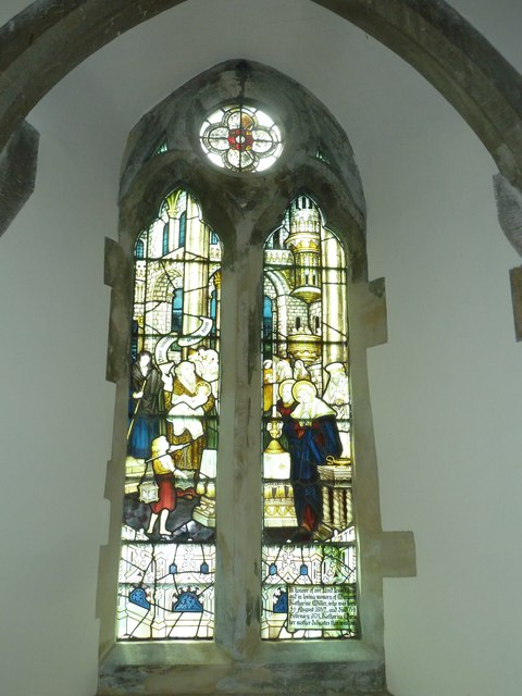 Church of the Assumption of the Blessed Virgin Mary Upper Froyle- stained glass window (13)