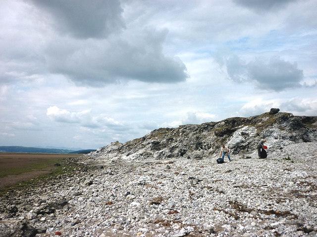 Litter pick on the shore, Warton Sands