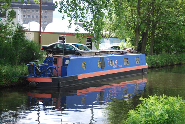 The Solar Kingfisher, Worcester and Birmingham Canal