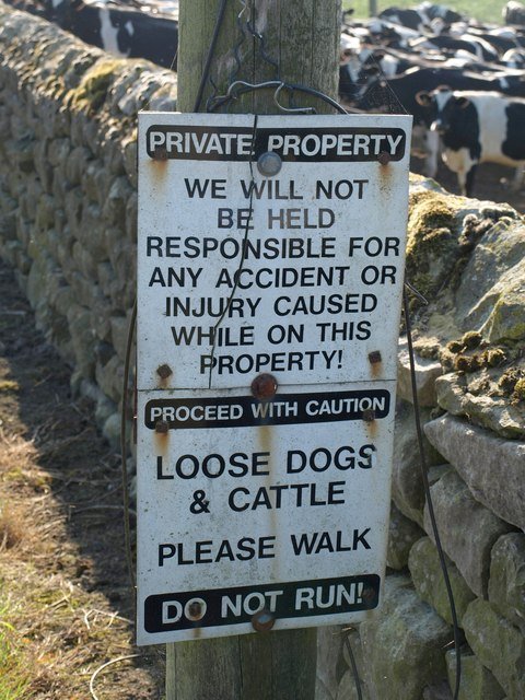 Notice at Whinhill Farm