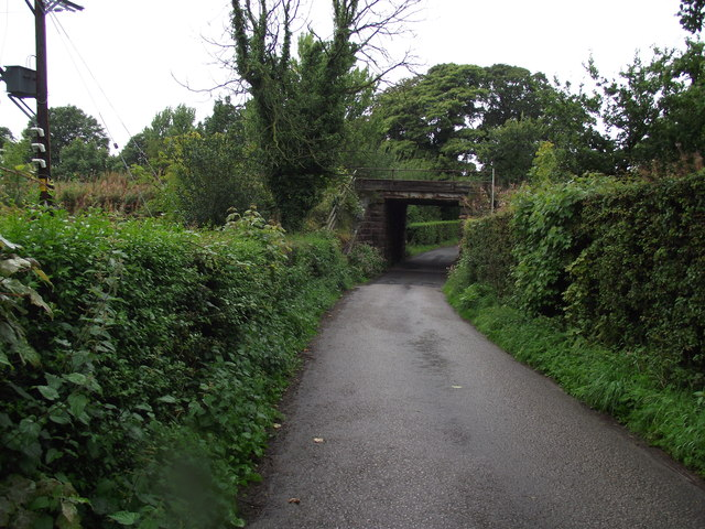 Lane leading to St. Joseph's Church, Brindle