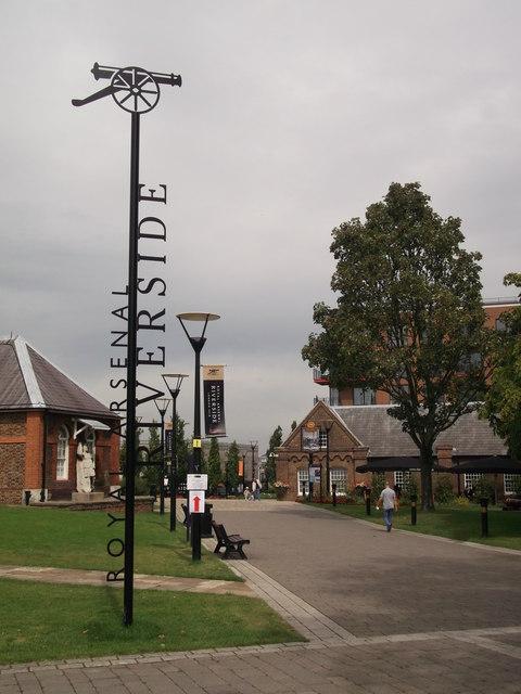 Royal Arsenal Riverside Sign