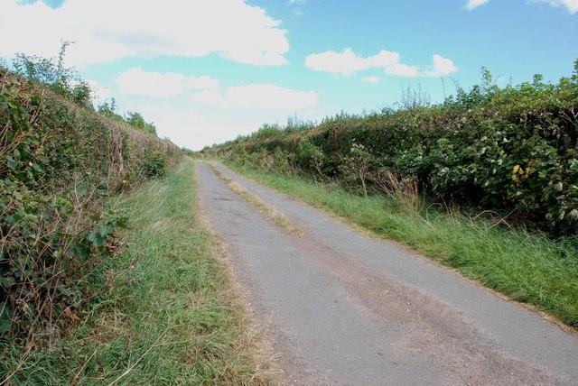 Track leaving Walton Grange