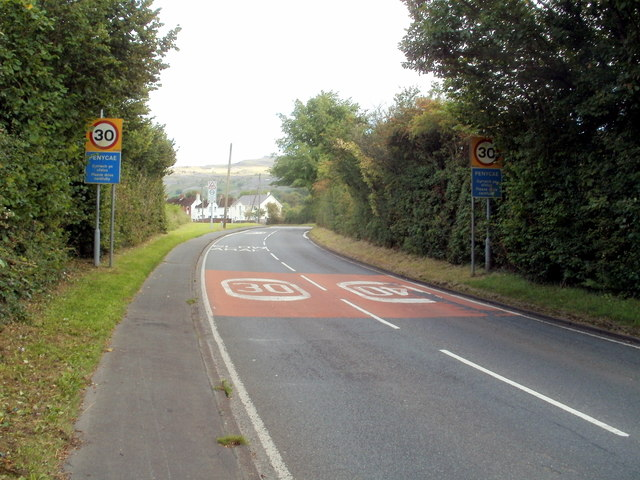 A4067 reaches Penycae