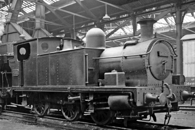 A non-standard 0-6-0T inside Llanelly Locomotive Depot