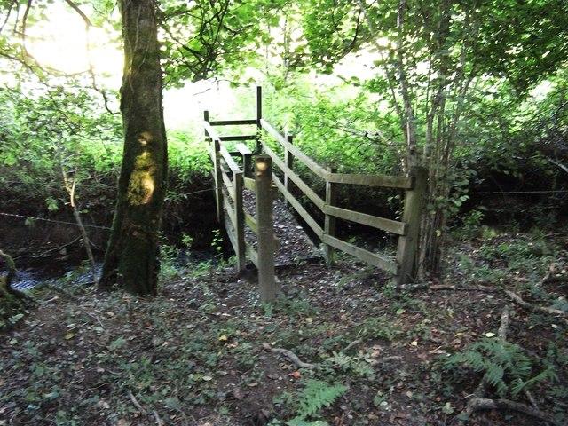 Footpath and bridge near Meidrim