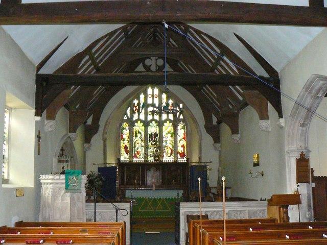 East inside the Church of St James, Cherhill