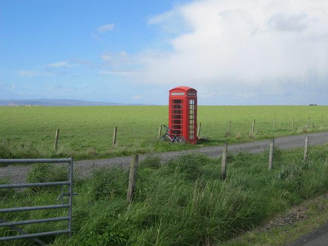 Lonely telephone box