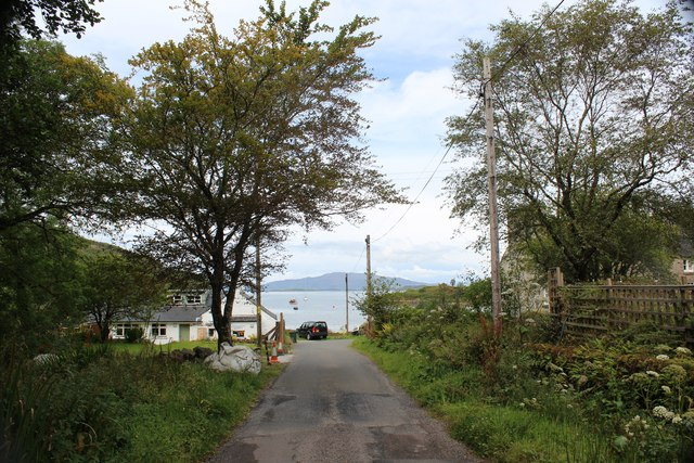The road into Crinlan Harbour