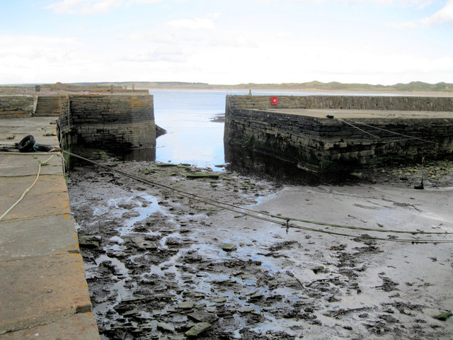 Castlehill Harbour at low water