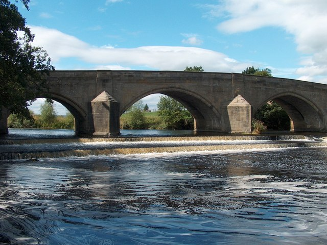 Harewood Bridge over the River Wharfe - built in 1729