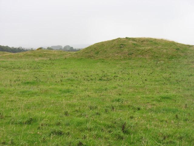Tumuli on North Hill, near Priddy