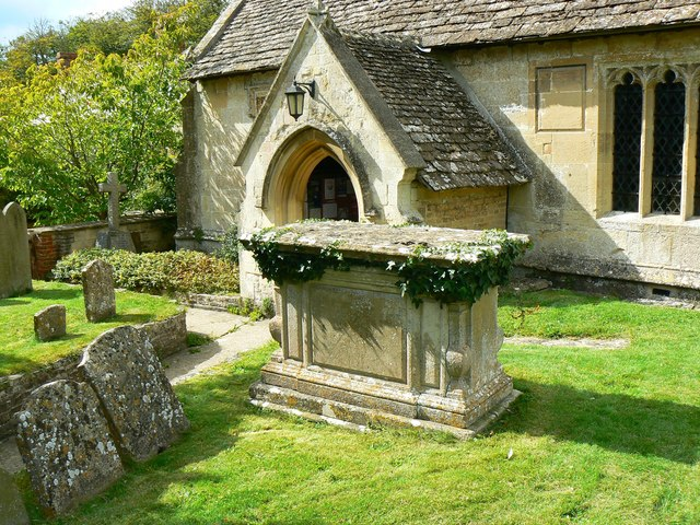 South porch and tomb, Church of St James, Cherhill