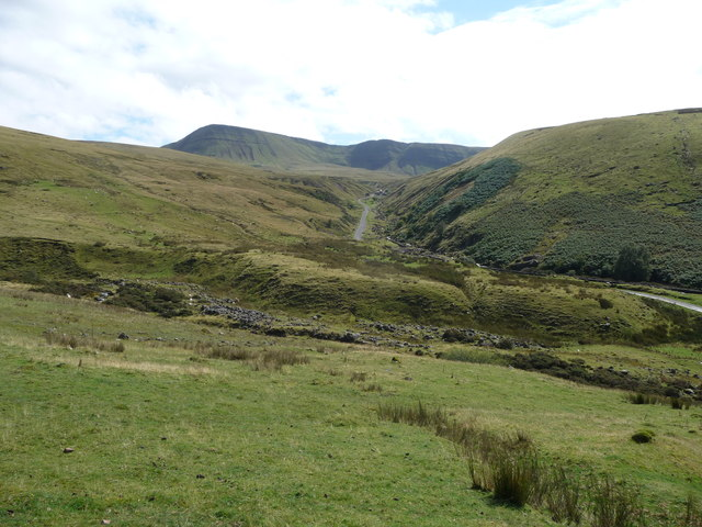 View across to the track up to Llyn y Fan Fach