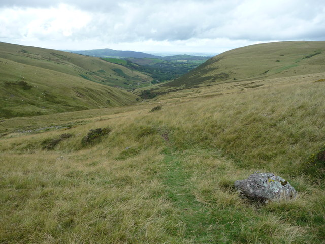 View above the Nant Melyn below the Carmarthen Fans