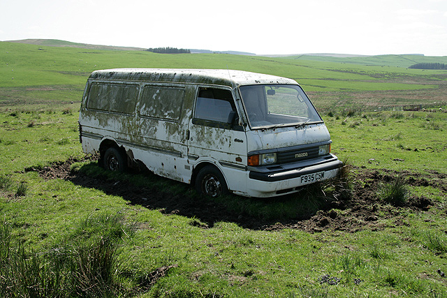 An old van at Black Cleuch
