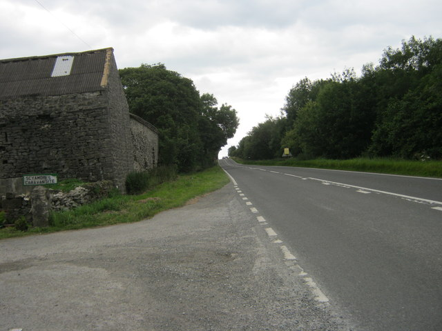 A515 south east passing Greatlow Farm