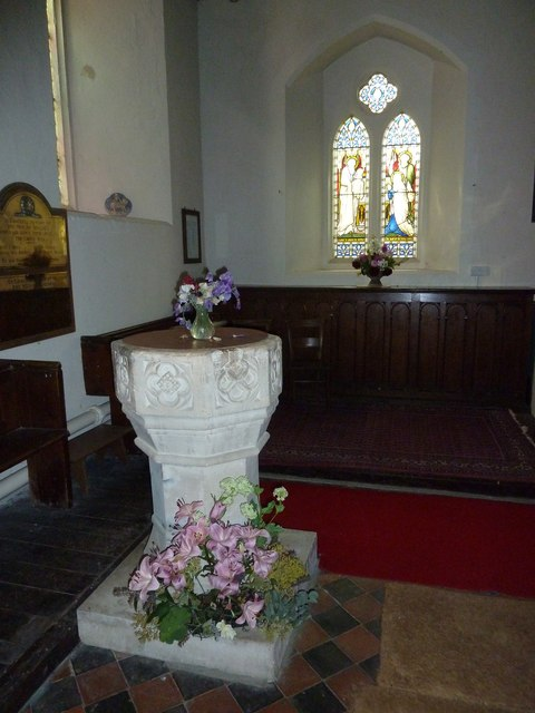 St Peter & Paul, Shalden: font