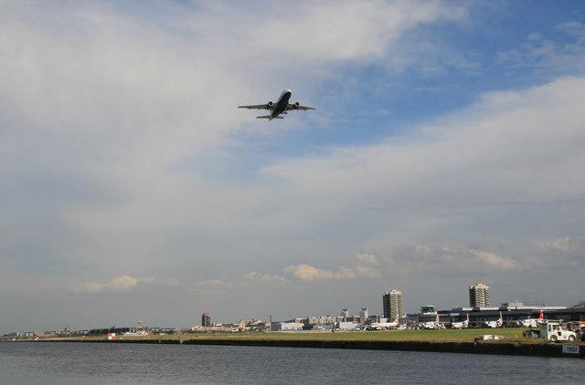Royal Albert Dock and London City Airport