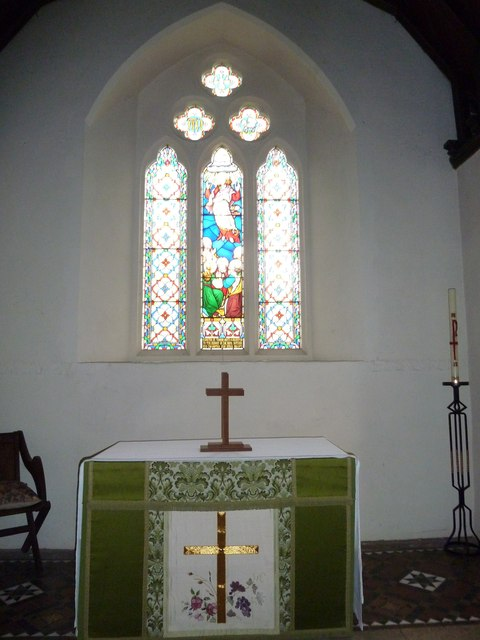 St Peter & Paul, Shalden: altar