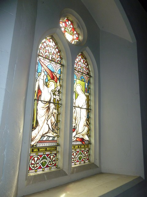 St Peter & Paul, Shalden: stained glass windows (V)