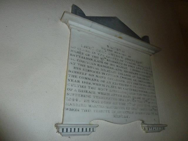 St Peter & Paul, Shalden: memorial (C)
